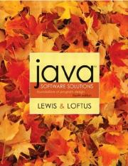 Java Software Solutions - Foundations of Program Design, 4th Edition; John Lewis, William Loftus (Ad