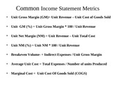 Income Statement Metrics