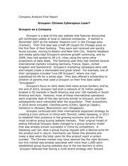 Ivey Publishing   Ivey Business School SP ZOZ   ukowo GROUPON Lauren Byrd Startup Case Study February          Entrepreneurial  Journalism
