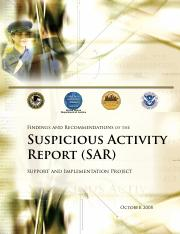 Suspicious Activity Report January 2009