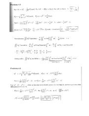 Physics 137A Homework 9 Solutions