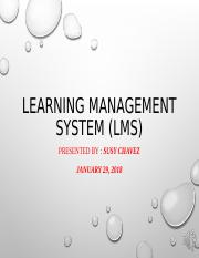 Susy Chavez Learning Management Systems.ppt