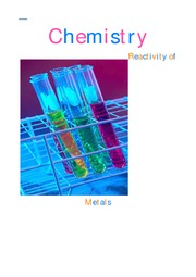 Chemistry (Reactivity of Metals)