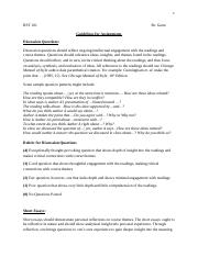 RST 101 Guidelines for Assignments