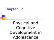 physical & cognitive adolescence