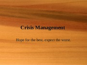 WeekTenCrisisManagement.ppt