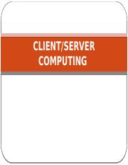Client-Server Computing  - Overview