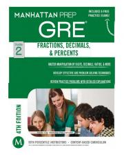 GRE 2 Fractions, Decimals and Percents