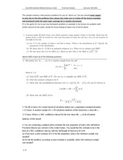 stat 3025 Final Exam sample practice