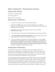 Major Assignment3410 wing analysis.docx
