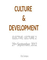 Culture-Develop_Lecture-Two_2012