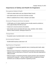 Chapter 1- Importance of Safety and Health for Engineers