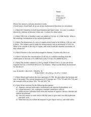 chem 210 fall 11 exam 2 Organic chemistry i: chemistry 350 syllabus fall 2017  final exam tuesday, december 12, 11:30  chem 210 § note: organic chemistry laboratory i, chem 355, is a .