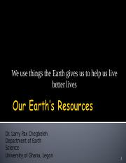 UGRC 140_B_Our Earths Resources