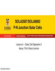 SOLA3507-9002 Lecture 4 Solar Cell Operation 2 - Large (LAPTOP-A1B078TL's conflicted copy 2016-03-30