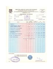 Degree marks sheets