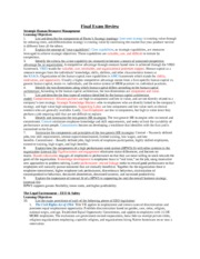 MGMT 2103 Managing People and Organization comprehensive final review