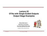 Lecture 22-Single Ended OTAs and Output Stages