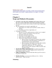 Scope and Method of Economics