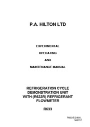 R633 Refrigeration unit users manual