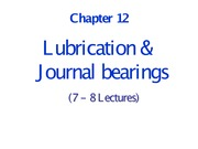 Journal Bearings-Lecture12