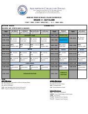 MICAH-DAY.pdf - SENIOR HIGH SCHOOL CLASS SCHEDULE GRADE 11 ...