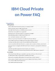 CS AC922 : IBM Cloud Private on POWER Level 1 - UCL - Course Hero