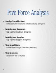 External Analysis of Walmart (Five forces and PEDST)ppt복사