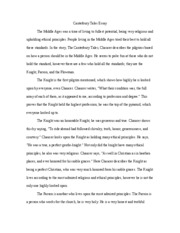 the canterbury tales questions prologue answers the  3 pages canterbury tales essay