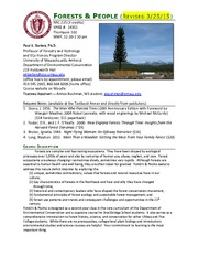 UMass_NRC_225_Forests__People_ 2015_ Syllabus_REVISION 3_25March2015