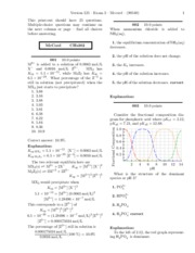 chem 302 exam 3 solution