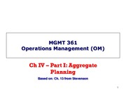 Mgmt 361 - Ch4 - part I