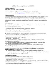 Syllabus for Chinese 1-Fall 2014-student copy