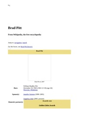 Brad Pitt - Wikipedia, the free encyclopedia