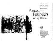 Holton. Forced Founders