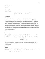 Experiment 01 - Determination of Density.docx