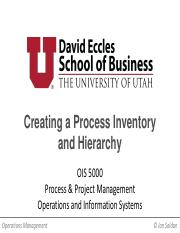 OIS 5000 Class Session 2 - Inventory and Hierarchy_ONLINE