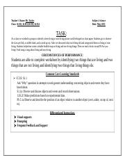 Task Sheet Identifying Living and Non-Livning .docx