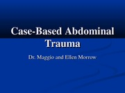 Case-Based Abdominal Trauma