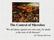 Lecture 7-Control of microbes