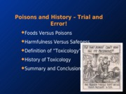 1.poisons.history