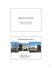 Chapter 10 - Mass Transfer, April 15, 2014