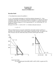 ECON 4413 Fall 2014 Problem Set 2 Solutions