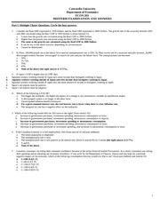 economics 101 multiple choice questions for final examination Economics 100 loren a lee, instructor multiple choice questions for final examination.