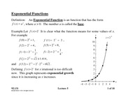 Lecture 5 on Exponential and Inverse Functions