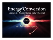 Lecture 11 - Concentrated solar thermal energy