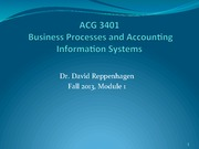 Business Processes and Accounting Information Systems