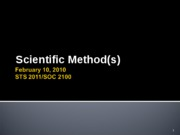 Scientific Methods 021010