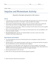 physics impulse and momentum worksheet. Black Bedroom Furniture Sets. Home Design Ideas