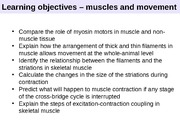 Lecture 22 - Muscles and Movement